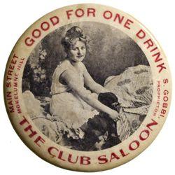 CA - Mokelumne Hill,Calaveras County - c1910 - Club Saloon Mirror