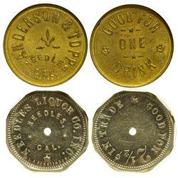 CA - Needles,San Bernardino County - c1905 - Needles Tokens