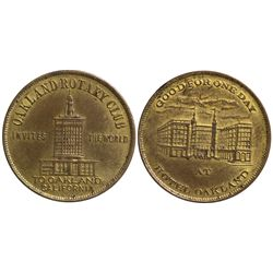 CA - Oakland,Alameda County - c1915 - Oakland Rotary Club Token