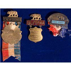 CA - San Francisco,1900, 1904 - California Political Badges