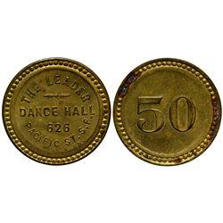 CA - San Francisco,1907-1908 - Leader Dance Hall Token