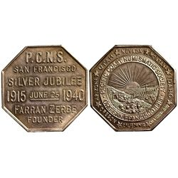 CA - San Francisco,1940 - PCNS Medallion