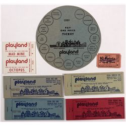CA - San Francisco,c1930 - Playland Paper Tickets and Tokens