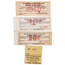 CA - San Quentin,Marin County - c1960 - Canteen Service Paper Tokens