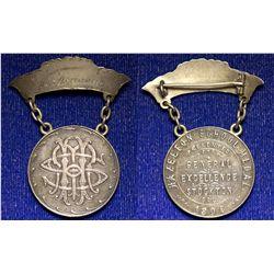 CA - Stockton,San Joaquin County - 1894 - Hazelton School Medal