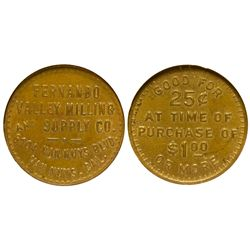 CA - Van Nuys,L.A. County - c1960 - Valley Milling Supply Co. Token
