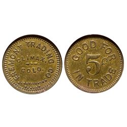CO - Climax,Lake County - c1910 - Fremont Trading Co. Token