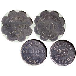 CO - Hudson,Weld County - c1946 - Hudson Billiards Tokens