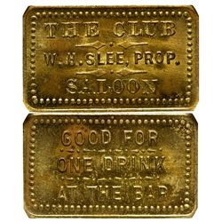 CO - Walden,Jackson County - c1908 - Club Saloon Token