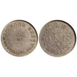 CO - Westcliffe,Custer County - c1885 - Clipper Bar Token