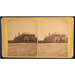 Dakota North - Fargo,Cass County - 1873 - Indian Trader Store Stereoview