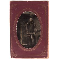 Dakota South - 1865 - Native American Man Ferrotype