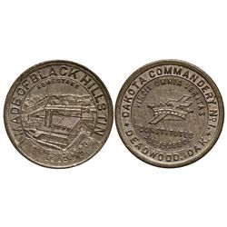 Dakota South - Deadwood,Lawrence County - 1880 - South Dakota Black Hills Tin Token