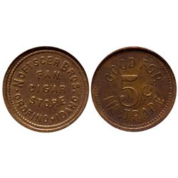 ID - Orofino,Clearwater County - c1900-1920 - Noftscer Bros. Cigar Store Token