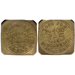 ID - Rockland & Bonanza,Power and Custer County - c1900-1920 - S.M. Morris & Co. Token