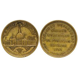 IL - Chicago,Cook County and DuPage County - 1893 - World's Columbian Exposition Token