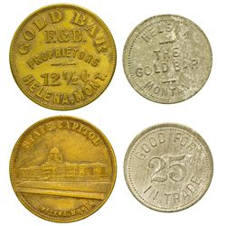 MT - Helena,Lewis and Clark County - Gold Bar Tokens
