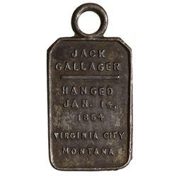 MT - Virginia City,Madison County - Jack Gallager Token