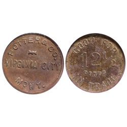 MT - Virginia City,Madison County - c1908 - Potter and Co. Token
