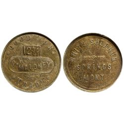 MT - White Sulphur Springs,Meagher County - c1885 - P.H. Maloney Token
