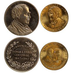 NJ - Menlo Park,Middlesex County - 1847-1947, 1879-1929 - Thos. A. Edison Tokens