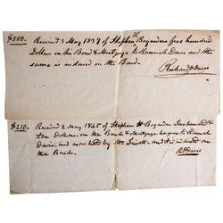 NM - 1837, 1845 - Bogardus, Stephen H. Bond Letters
