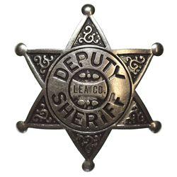NM - 1920s-1930s - Deputy Sheriff Badge, Lea County