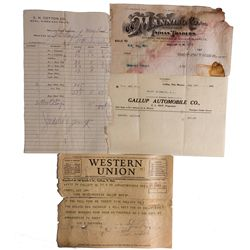 NM - 1908, 1911, 1919, 1934, - Gallup Ephemera Group (Indian Traders)