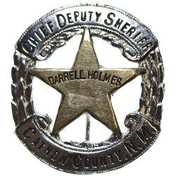 NM - 1950s-1960s - Holmes, Darrell, Chief Deputy Sheriff Badge