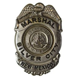 NM - 1940s-1950s - Marshal Badge, Silver City