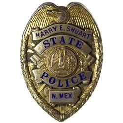 NM - 1930s-1940s - Shuart, Harry E., State Police Badge