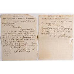 NM - Fort Stanton,Lincoln County - 1883, 1884 - Fort Stanton Post Trader Letters
