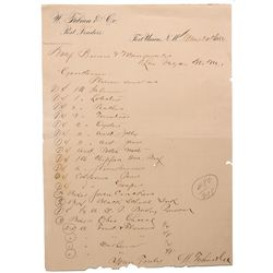 NM - Fort Union,Mora County - 1884 - Post Traders Letter