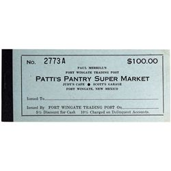 NM - Fort Wingate,1960s - Patti's Pantry Super Market Coupon Book