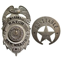 NM - Hatch,1950s - Wallace, Robert G., Marshal and Constable Badges