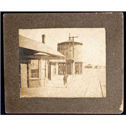 NM - Isleta Pueblo,Bernalillo County - c1900 - Isleta Train Station Photograph