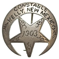 NM - Kelly,1903 - Constable Badge, Kelly, NM