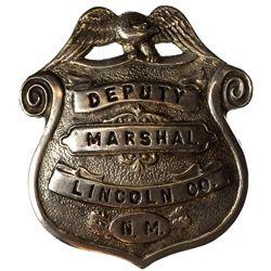 NM - Lincoln County,c1885 - Deputy Marshal Badge