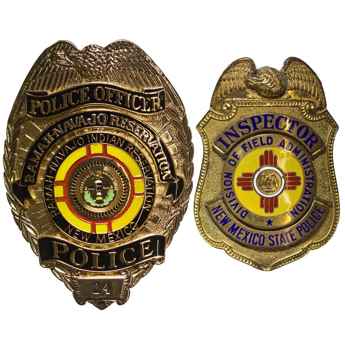 NM - Lincoln County,Police Badge, Ramah-Navajo, and Inspector Badge
