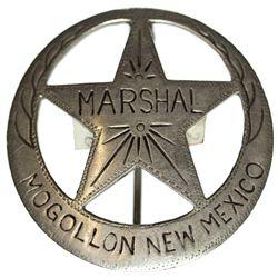 NM - Mogollon,1940s - Mogollon Marshal Badge