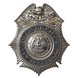 NM - San Jaun County,1930s-1940s - Fhuere, Louis, Deputy Sheriff Badge