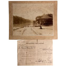 NM - San Marcial,Socorro - 1880s - Flood Photograph and Application for License