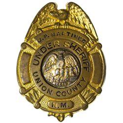 NM - Santa Fe,Union County - 1930s - Martinez, J.P. Union County Under Sheriff