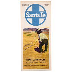 NM - Santa Fe,1953 - Santa Fe Train Schedules Booklet
