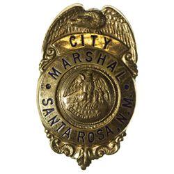 NM - Santa Rosa,1920s-1940s - City Marshal Badge