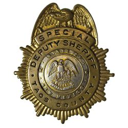 NM - Taos County,1930s - Flores, Eloy: Special Deputy Sheriff Badge