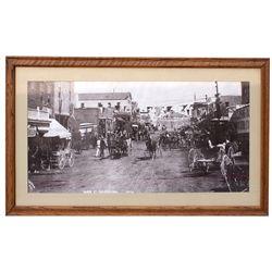 NV - Goldfield Street Scene Reprint Framed