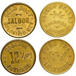 NV - Goldfield,Esmeralda County - Goldfield, Gold Dust & Cobweb Saloon Tokens