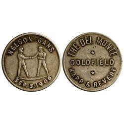 NV - Goldfield,Esmeralda County - 1906 - Nelson-Gans Fight Token