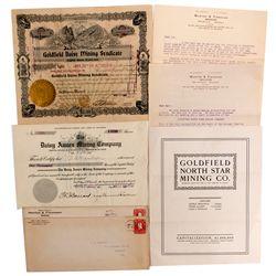 NV - Goldfield,Esmeralda County - 1906, 1907 - North Star Mining Co. and Daisy Mining Co. Documents